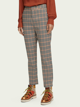 Scotch & Soda High waist houndstooth checked straight leg pants | Women