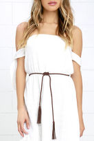 LuLu*s Thalassa Brown Braided Wrap Belt