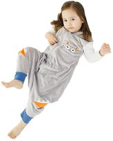 Happy Cherry Kids Toddler Boys Girls Flannel Zipper Jumpsuit Warm Sleepwear Sleepbag