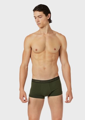 Emporio Armani Three-Pack Of Boxer Briefs With Logo Waistband