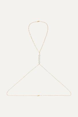 Éliou eliou - Gold-filled Pearl Body Chain - one size