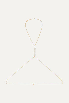 Eliou Gold-filled Pearl Body Chain