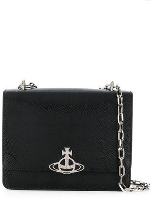 Vivienne Westwood Logo Plaque Chain Strap Crossbody Bag