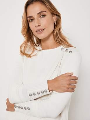 Mint Velvet Mix Yarn Detail Wrap Cardigan - Cream