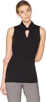 Lark & Ro Amazon Brand Women's Sleeveless Twist Neck Top