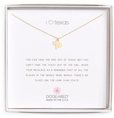 Dogeared Women's I Heart Texas Pendant Necklace