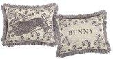 Thomas Paul Bunny Embrded 12x16 pillow