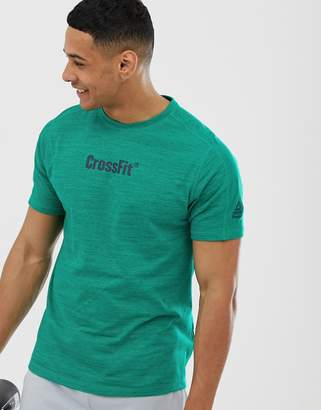 Reebok Crossfit melange t-shirt in teal-Navy