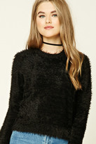 Forever 21 FOREVER 21+ Fuzzy Knit Crop Top