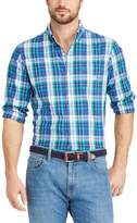 Chaps Big & Tall Classic-Fit Gingham Easy-Care Button-Down Shirt