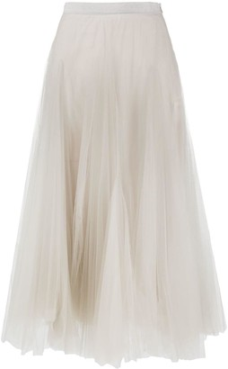 Fabiana Filippi Full Pleated Tulle Skirt