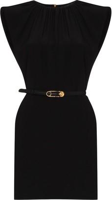 Versace Belted Silk Mini Dress