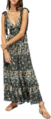 Free People Let's Smock About It Floral Print Maxi Dress