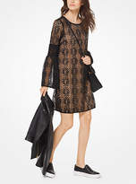 Michael Kors Bell-Sleeve Lace Dress