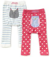 Joules Baby Girls Newborn-2T Owl/Cat 2-Pack Leggings Set