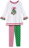 Bonnie Jean 2-Pc. Holiday Tunic & Leggings Set, Toddler & Little Girls (2T-6X)