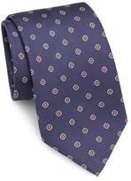 Brioni Men's Diamond & Dot Silk Tie
