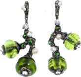 Arunashi Peridot Bead Fruit Earrings