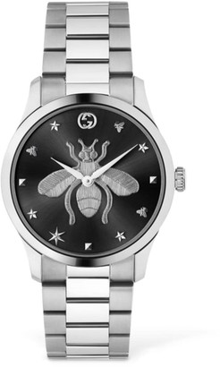 Gucci 38mm G Timeless Bee Motif Watch