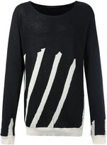 Haider Ackermann striped jumper - men - Cotton/Cashmere - S