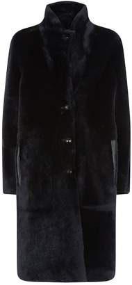 Joseph Reversible Leather Shearling Brittany Coat