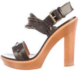 Lanvin Leather Platform Sandals
