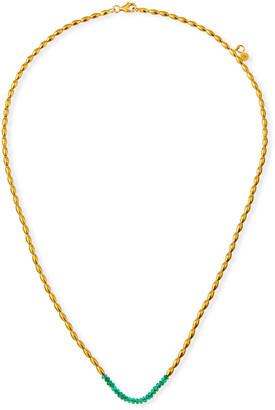 Gurhan Delicate Hue Short Emerald Necklace