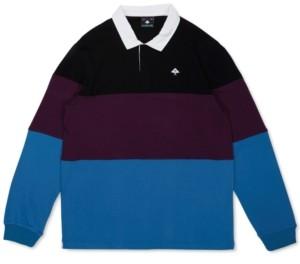 Lrg Men's Tivoli Regular-Fit Colorblocked Rugby Stripe Polo Shirt