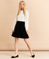 Brooks Brothers Velvet & Crepe Shirt Dress