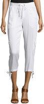 XCVI Opaline Cropped Drawstring Pants, White