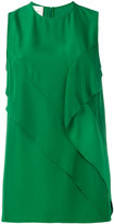 Cédric Charlier detailed sleeveless blouse - women - Rayon - 40