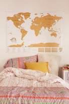 Urban Outfitters XL World Scratch Map