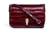 Elizabeth and James 'Cynnie' croc embossed flap leather crossbody bag
