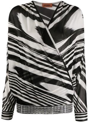 Missoni Zebra Print Wrap Blouse