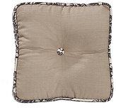 HiEnd Accents Augusta Button-Tufted Faux-Linen Square Pillow
