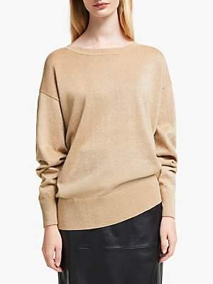 John Lewis & Partners Glitter Batwing Sweater