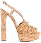 Casadei woven detail sandals