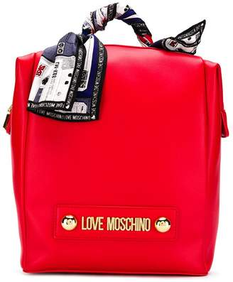 Love Moschino scarf-embellished backpack