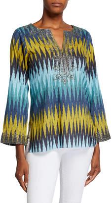 Bella Tu Peyton Zigzag Tunic with Metallic Thread