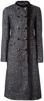 Dolce & Gabbana fur trim bouclé coat