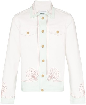 Casablanca Shell-Print Denim Jacket