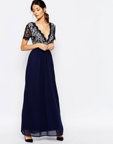 Club L Lace Scallop Occasion Maxi Dress