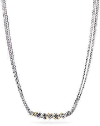 David Yurman Helena Short Necklace with 18K Yellow Gold & Diamonds