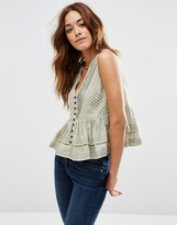 Asos Tiered Button Through Sun Top
