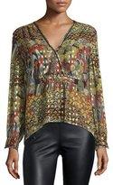 Zadig & Voltaire Metallic Silk Multipattern Blouse, Multicolor
