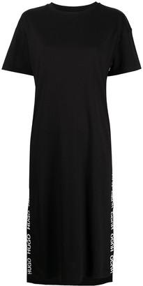 HUGO BOSS Logo Stripe T-Shirt Dress