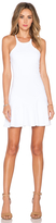 Donna Mizani Mini Flounce Dress In White