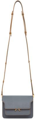 Marni Grey Saffiano Mini Trunk Bag
