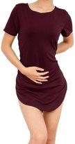 SlickBlue Women Casual Style Short Sleeve Side Split Tee Shirt