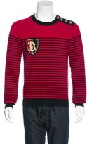 Balmain Wool Striped Appliqué Sweater w/ Tags